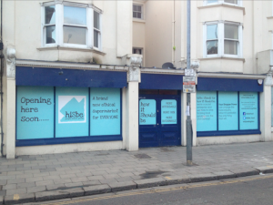 hiSbe store in Brighton, undergoing refurbishments